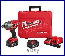 Milwaukee 2864-22 M18 Fuel Avecun-key Couple Élevé Clé À Chocs 3/4 Kit Bague