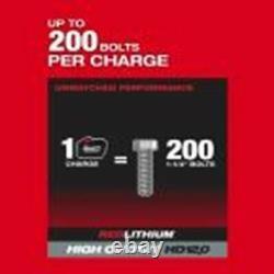 Milwaukee 2868-22hd M18 Fuel 1 D-handle Kit De Clé D'impact Avec(2) Piles 12ah