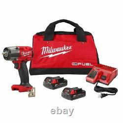 Milwaukee 2960-22ct M18 Fuel 3/8 Impact Wrench Withfriction Ring Cp2.0 Kit