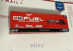 Milwaukee M12 2557-20 12-volts 3/8-inch 55-ft-lbs. Cordless Ratchet Bare Tool Milwaukee M12-volt 3/8-inch 55-ft-lbs. Cordless Ratchet Bare Tool Milwaukee M12-volt
