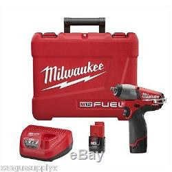 Milwaukee M12 Fuel 12 Volt 3/8 Clé À Chocs Pistolet Avec 2 Batteries Et Chargeur