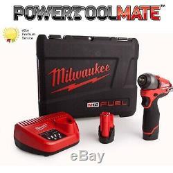 Milwaukee M12ciw14-202c 12v Fuel 2x2.0ah Li-ion 1/4 Po Clé À Chocs