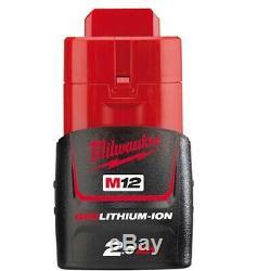 Milwaukee M12fir38-201b M12 De 3/8 À Cliquet 75 Nm, 2ah Batterie, Chargeur Et Sac
