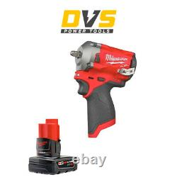 Milwaukee M12fiw38-0 12v M12 Fuel 3/8 Impact Wrench With 1 X 4ah Battery