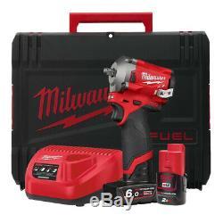Milwaukee M12fiw38-622x 12v 3/8 Po Clé À Chocs Kit Avec Batterie Et Case