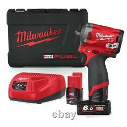 Milwaukee M12fiw38-622x 339nm Carburant 3/8 Clé D'impact, 2 Piles M12 Et Cha