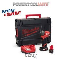 Milwaukee M12fiw38-622x Fuel 3/8 Po Clé À Chocs Avec Piles Et Case