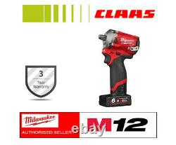 Milwaukee M12fiwf12-622x Fuel 1/2in Impact Wrench With Batteries 6ah, 2ah & Case