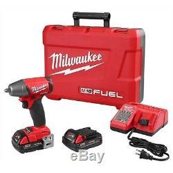 Milwaukee M18 Fuel 18 Volt 3/8 Compact Drive Impact Gun Clé 2754-22ct