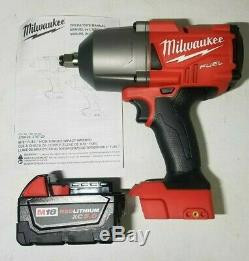 Milwaukee M18 Fuel 1/2 Couple Élevé 1400 Pi-lb Clé À Chocs With5.0 Bat # 2767-20b