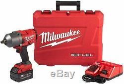 Milwaukee M18 Fuel Brushless Sans Fil 1/2 Po. Clé À Chocs Avec Le Kit De Friction Anneau