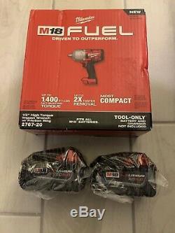 Milwaukee M18 Fuel LI 18-volt Brushless 1/2 Couple Élevé Clé À Chocs + (2) 5.0ah