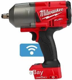 Milwaukee M18 Fuel Un Key 2863-20 1/2 Po. Anneau + (2) 48-11-1850 5.0ah Batts