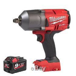 Milwaukee M18fhiwf12-0 18v Fuel Brushless 1/2 Clé À Chocs + 1 X 9.0ah Batterie