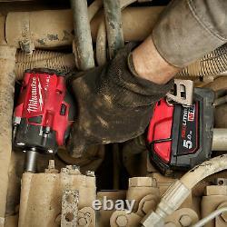 Milwaukee M18fiw2f12-502x Combustible 1/2 Clé D'impact Compacte Avec Kit De Bague De Friction