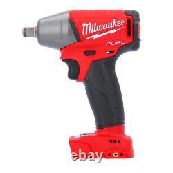 Milwaukee M18fiwf12 18v Fuel 1/2 Anneau De Friction Clé D'impact + 1 X 5ah Batterie