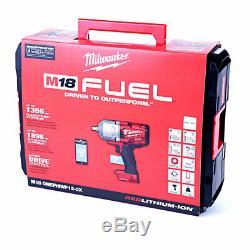 Milwaukee M18onefhiwf12 18v Clé À Chocs De Carburant 2 X 5ah Batteries & Case