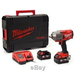 Milwaukee M18onefhiwf12-502x 1/2 1898nm Fuel Un Impact Clé Clé, X2 5.0ah Ba