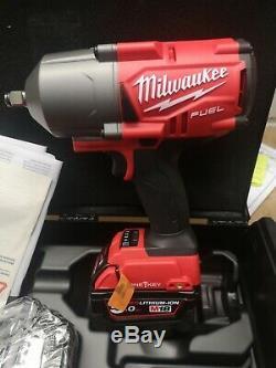Milwaukee M18onefhiwf12-502x Fuel Une Clé 1/2 Clé À Chocs Kit Avec Caoutchouc Sle