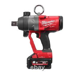 Milwaukee M18onefhiwf1-802x 18v Inch Drive Impact Wrench High Torque 2 X 8.0ah