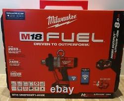 Milwaukee M18onefhiwf1-802x De Pouce Clé À Chocs 2 X 8.0ah Batterie Kit