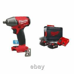 Milwaukee M18oneiwf12-502x 18v Impact Wrench 1/2 310nm 2 Batteries Charger Case