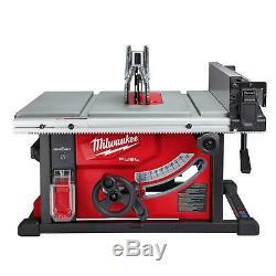 Milwaukee Sans Fil 8-1 / 4 Po. Scie À Table Kit M18 Fuel One-key 18v Li-ion Chargeur