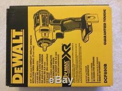 New Dewalt Dcf890b 3/8 20v 20 Volt Max Xr Brushless Clé À Chocs Nib Nu Outil