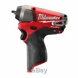 New Milwaukee 2452-20 M12 Fuel 1/4 Po. Clé À Chocs Nu Outil Square Drive