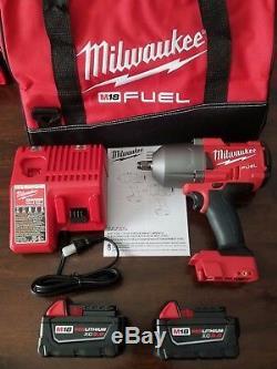 New Milwaukee M18 Fuel 1/2 High Torque 1400 Pi-lb Clé À Chocs Kit 2767-22