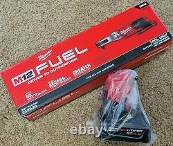 Nib Milwaukee 2557-20 M12 Fuel 3/8 Ratchet Sans Brosse Avec Batterie M12 Xc4.0 4.0ah