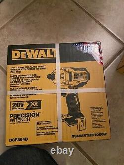 Nouveau Dewalt Dcf894b 20v Max Xr Brushless 1/2 Mid-range Impact Wrench Bare Tool