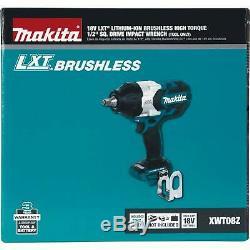 Nouveau Makita Xwt08z Lxt Lithium-ion Brushless Sans Fil 1/2 Clé À Chocs 18v