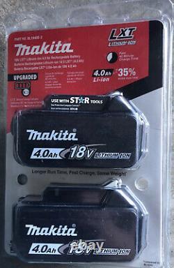 Nouveau! Makita Xwt11z 18v 1/2 Clé À Chocs, Batteries Et Chargeur Double