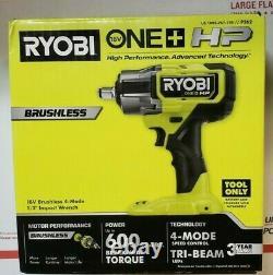 Nouveau Ryobi One+ HP 18v Sans Brosse Sans Fil 4-mode 1/2. Clé D'impact P262