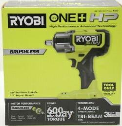 Nouveau Ryobi P262 / HP One+ 18v Sans Brosse Sans Fil 4-mode 1/2 In. L'impact Wrench Nouveau