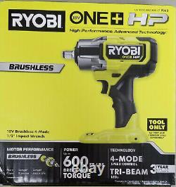 Nouveau Ryobi P262 / HP One+ 18v Sans Fil Sans Brosse 4-mode 1/2 Po. Clé D'impact