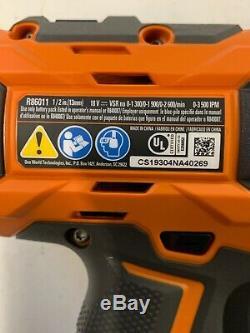Ridgid Sans Fil Brushless 1/2 Pouce Clé À Chocs Kit W 4.0 Batterie Et Chargeur