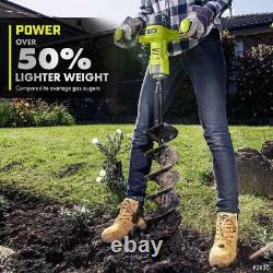 Ryobi One+ HP Cordless Earth Auger 18v Brushless 6 Pouces Bit Outil Inclus Seulement