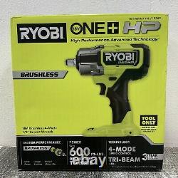 Ryobi P262 One+ HP 18v Brushless 4 Mode 1/2 Clé D'impact Nouveau
