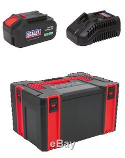 Sealey 9 Pièces Kit Grinder / Drill / Clé / Scie / Sander / Box / 2x Piles