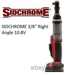Sidchrome 3/8 Angle Droit 10.8v Clé À Cliquet Électrique Sans Fil (peau Seulement)